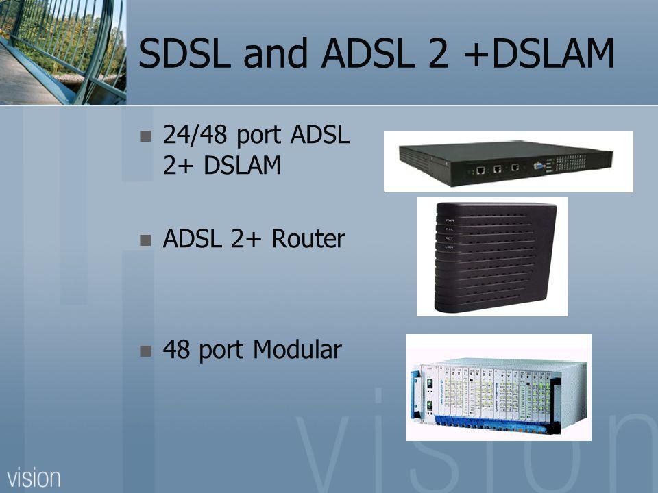 SDSL and ADSL 2 +DSLAM 24/48 port ADSL 2+ DSLAM ADSL 2+ Router 48 port Modular