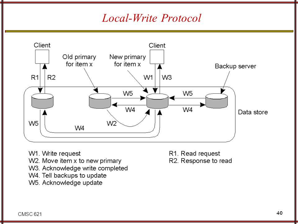 CMSC 621 40 Local-Write Protocol