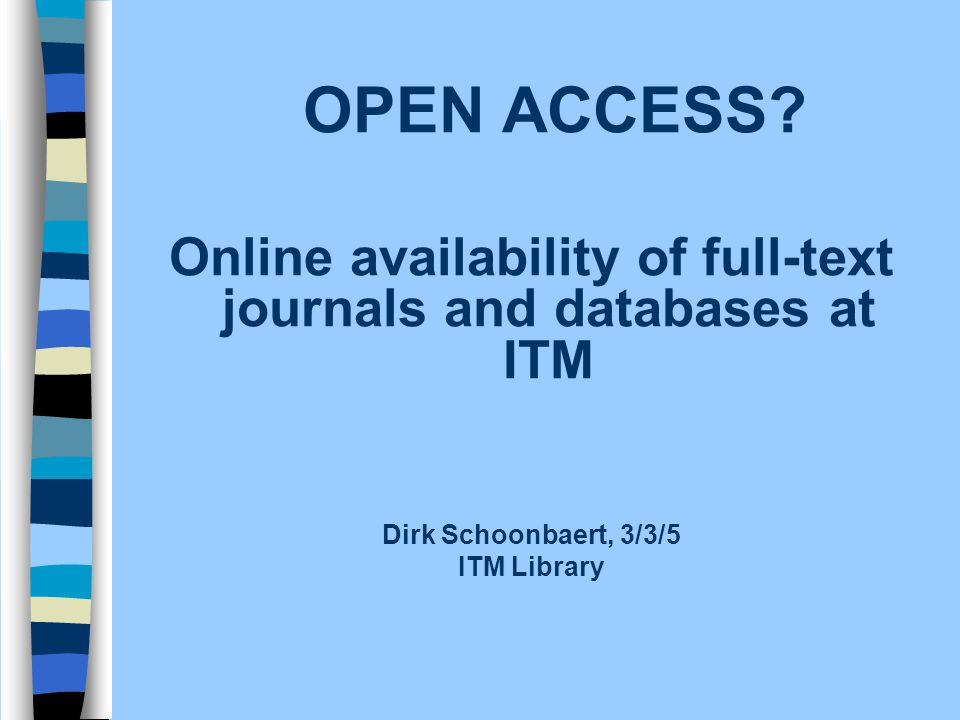 Bibliographical databases n Structured description of a well-defined universe (e.g.