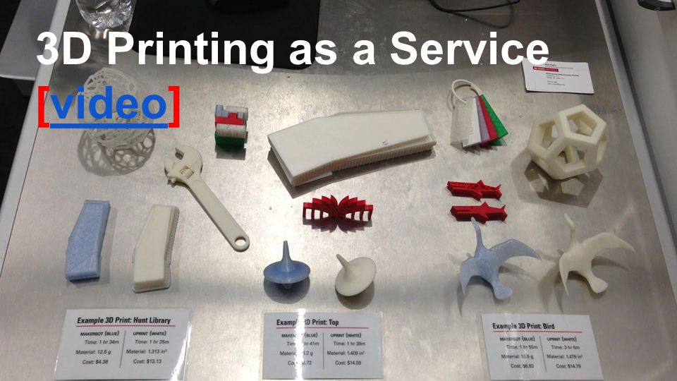 3D Printing as a Service [video]video