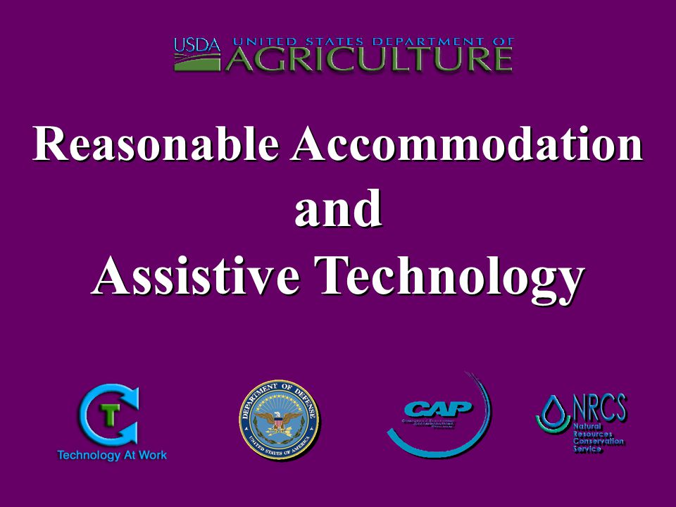 As a result of the signed agreement on August 30, 2002 between the United States Department of Agriculture (USDA) and the Department of Defense (DoD), all Assistive Technology accommodations will be provided to all USDA Agencies at no cost through the TARGET Center by the DoD Computer / Electronic Accommodations Program (CAP).