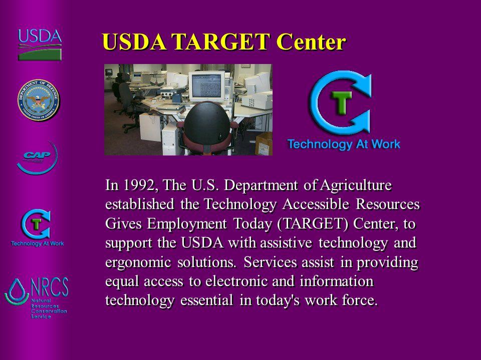 USDA TARGET Center In 1992, The U.S.