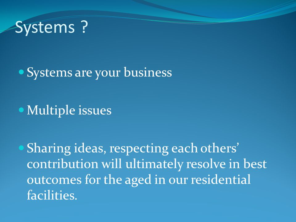 Systems .
