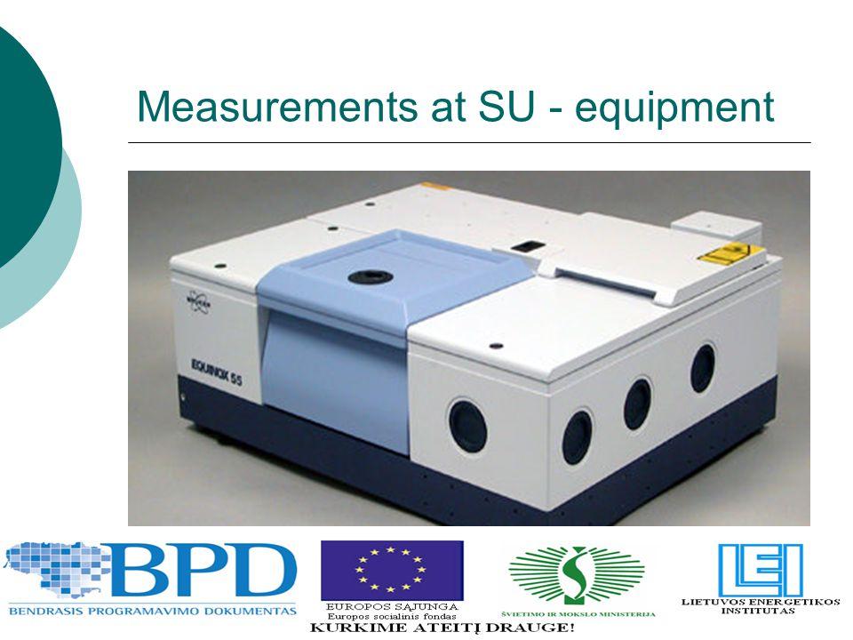 Measurements at SU - equipment