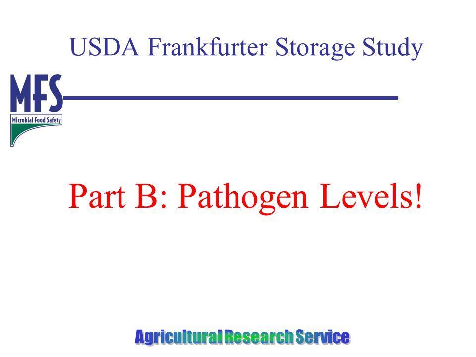 USDA Frankfurter Storage Study Part B: Pathogen Levels!