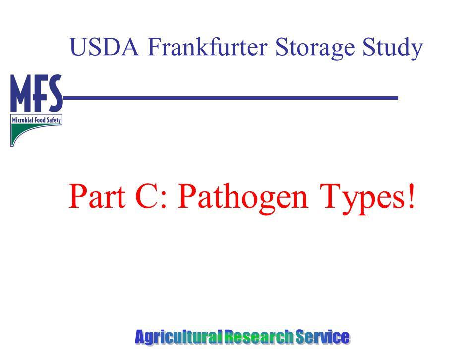 USDA Frankfurter Storage Study Part C: Pathogen Types!
