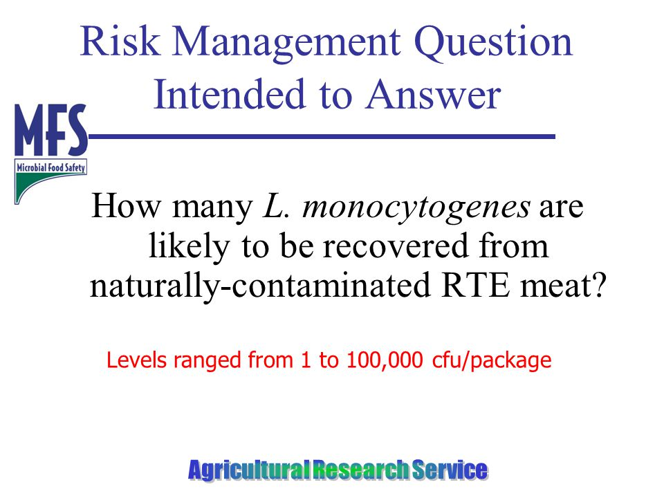 Risk Management Question Intended to Answer How many L.