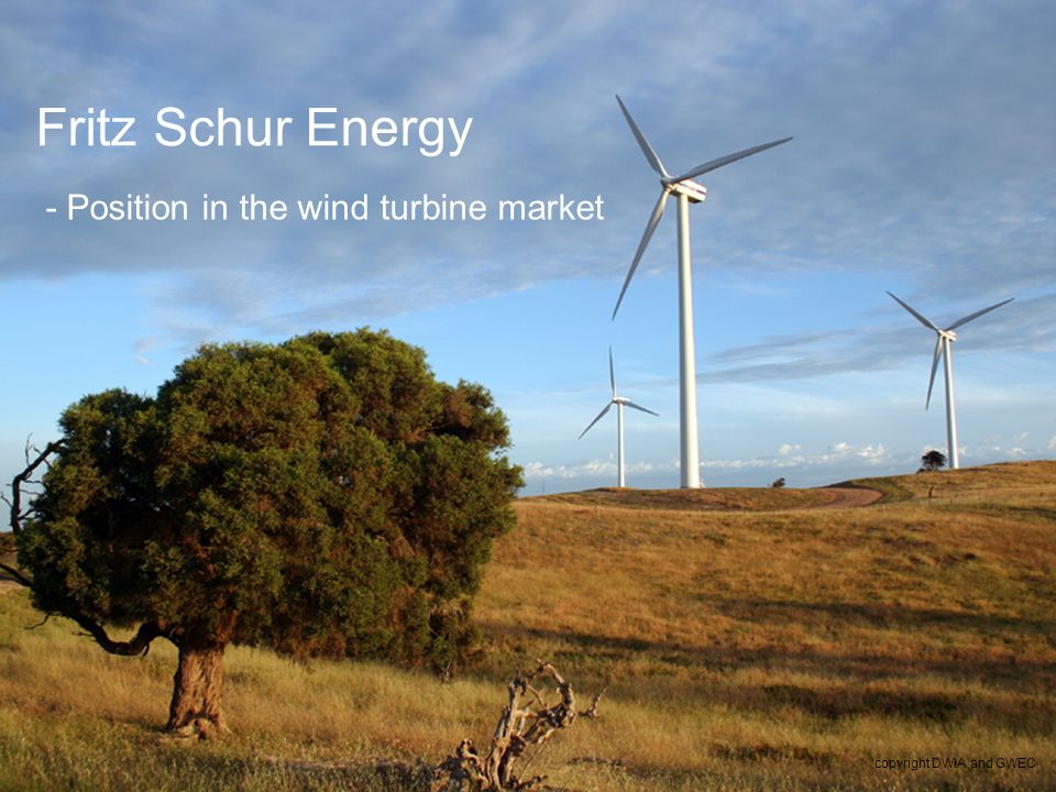 5 Fritz Schur Energy - Position in the wind turbine market copyright DWIA and GWEC