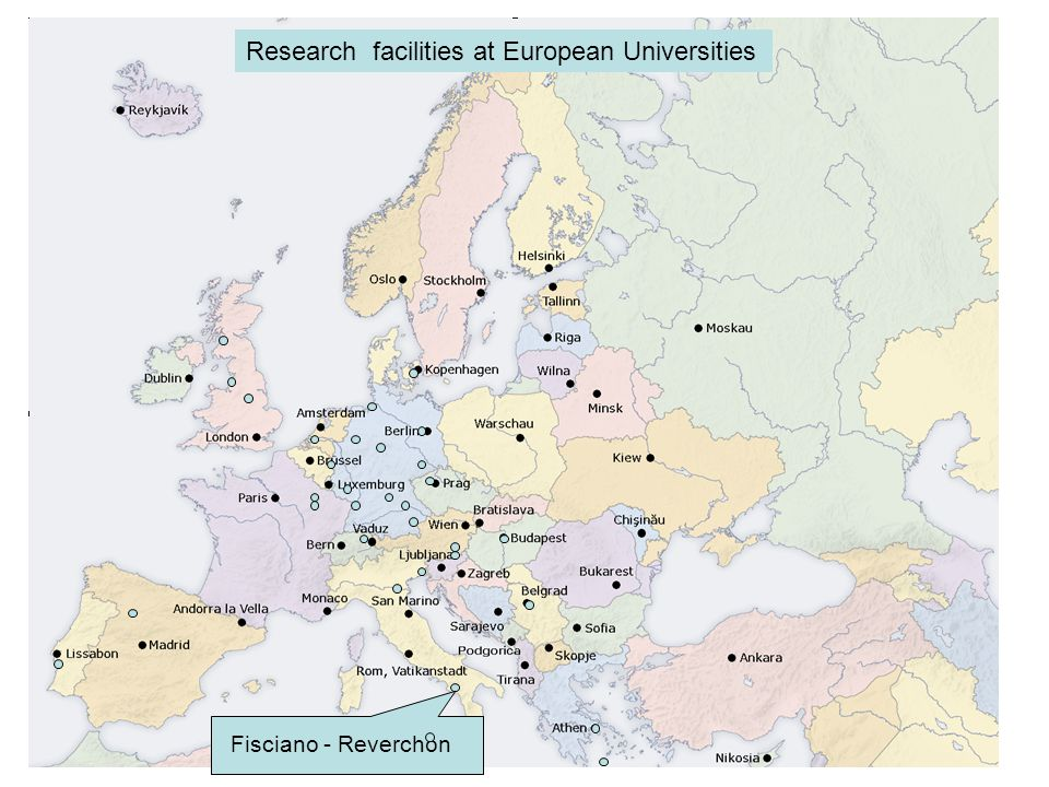 Fisciano - Reverchon Research facilities at European Universities