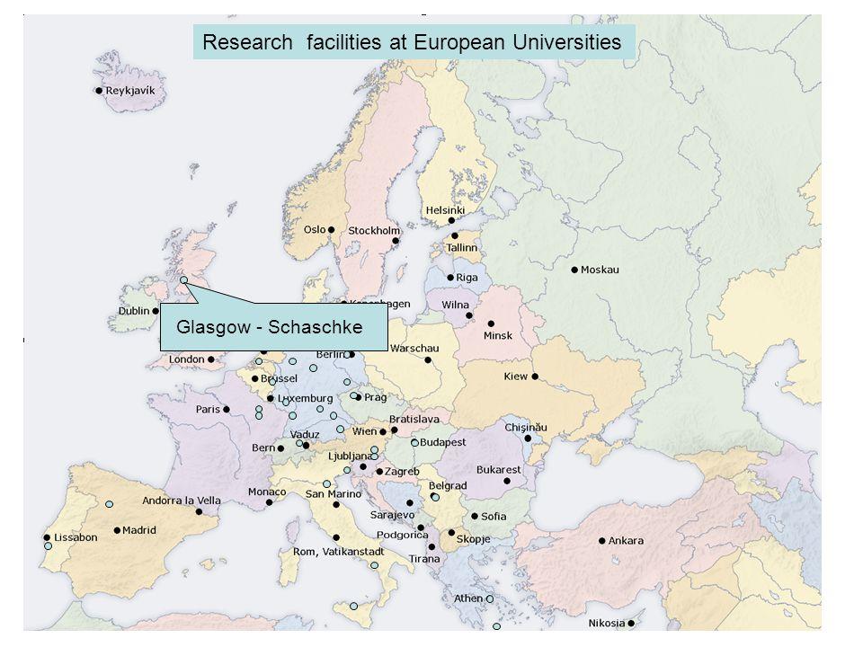Glasgow - Schaschke Research facilities at European Universities