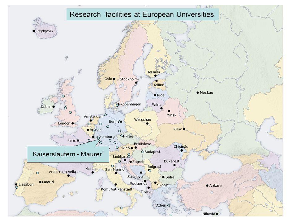 Kaiserslautern - Maurer Research facilities at European Universities