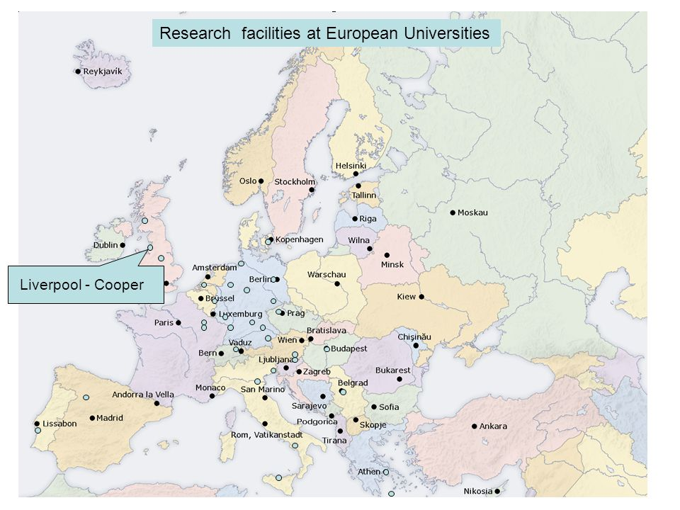 Liverpool - Cooper Research facilities at European Universities