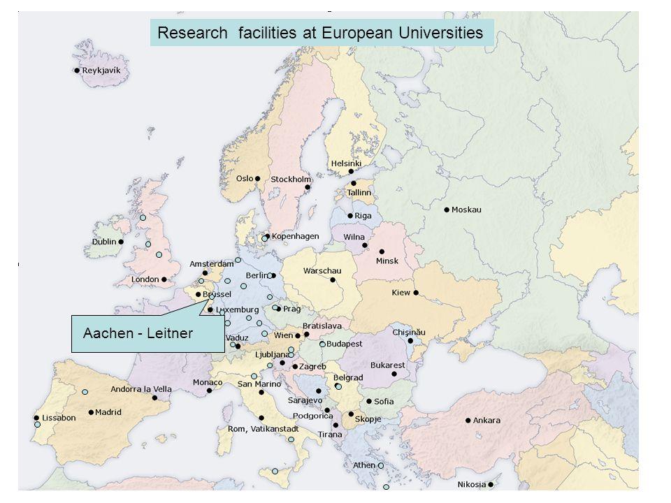 Palermo - Filardo Research facilities at European Universities