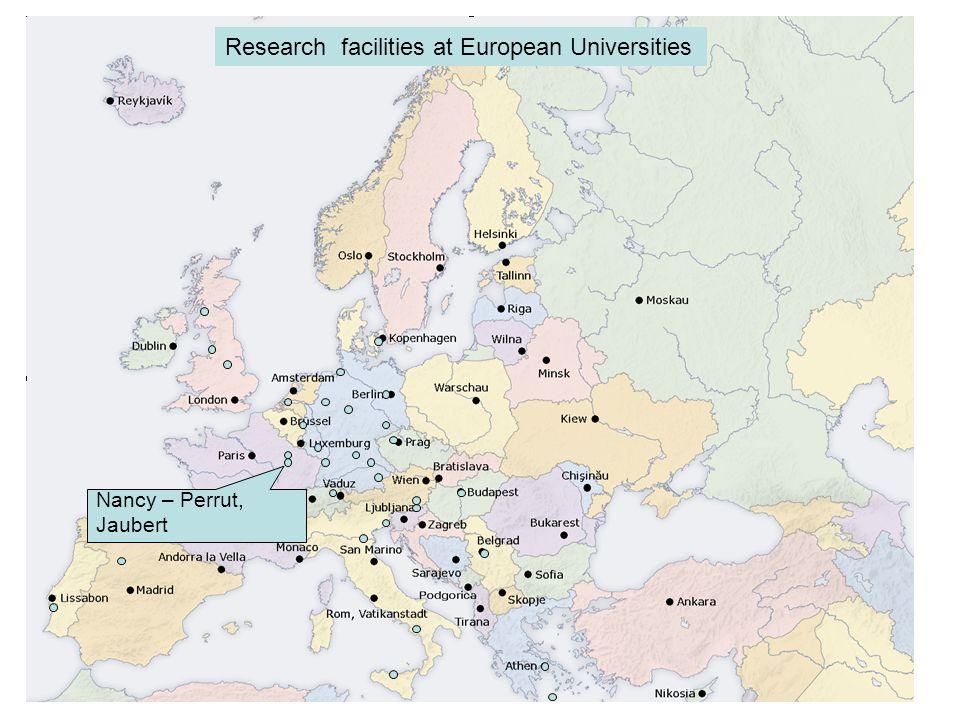 Nancy – Perrut, Jaubert Research facilities at European Universities