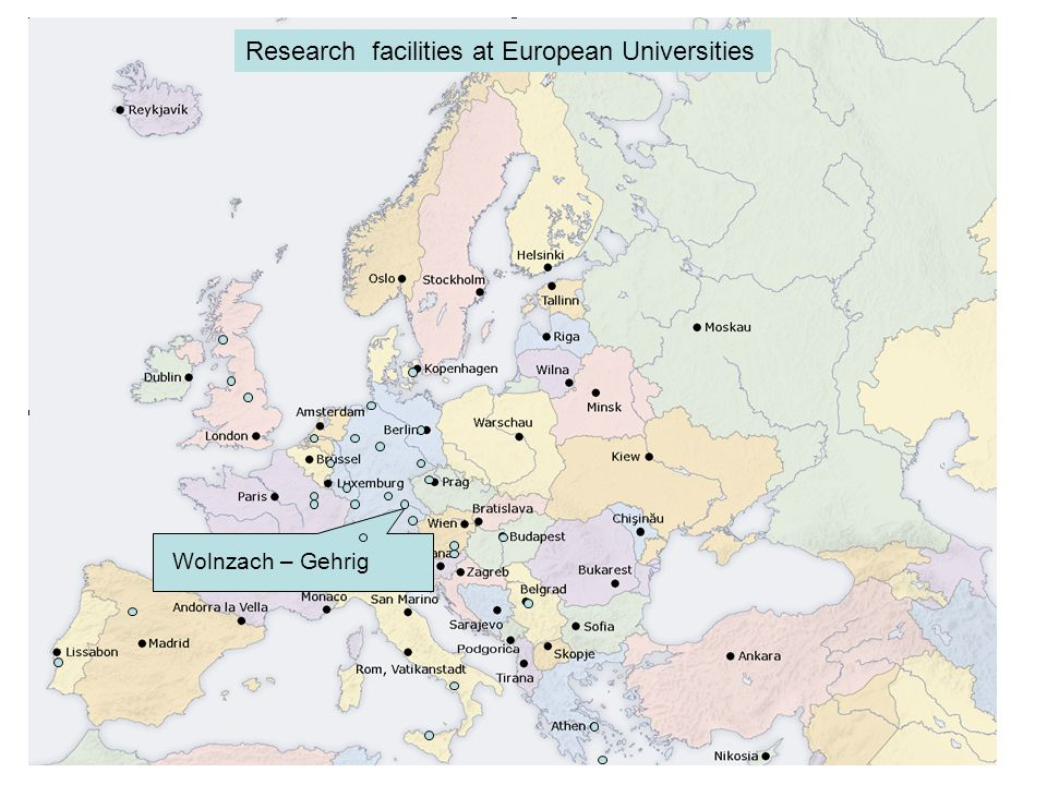 Wolnzach – Gehrig Research facilities at European Universities