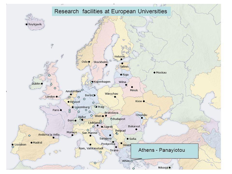 Athens - Panayiotou Research facilities at European Universities