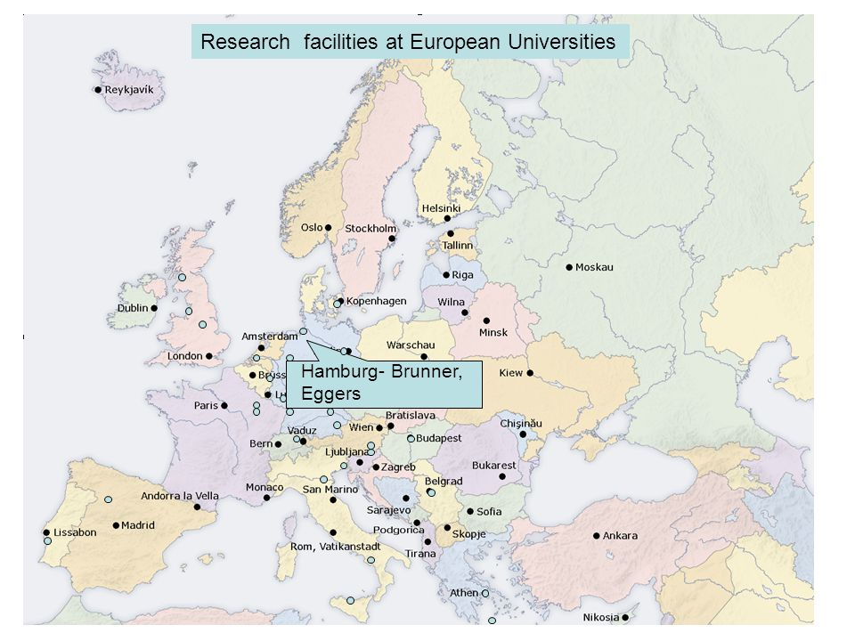 Hamburg- Brunner, Eggers Research facilities at European Universities