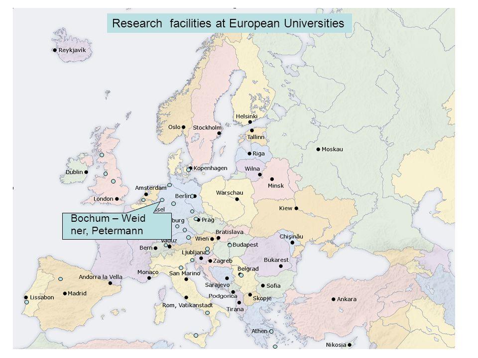 Bochum – Weid ner, Petermann Research facilities at European Universities
