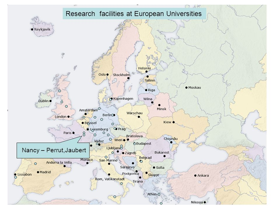 Lyngby - Stenby Research facilities at European Universities