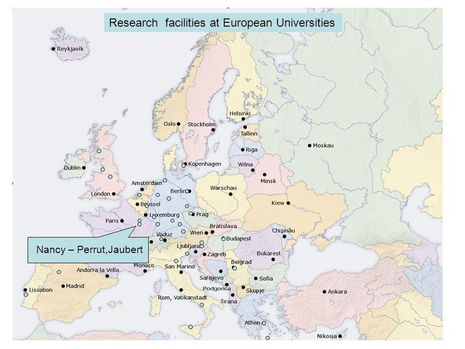 Potsdam – Vana Research facilities at European Universities