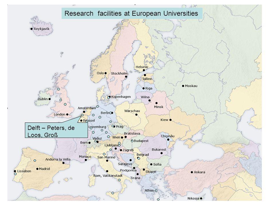 Erlangen – Arlt, Delgado, Schlüc ker, Freitag Research facilities at European Universities