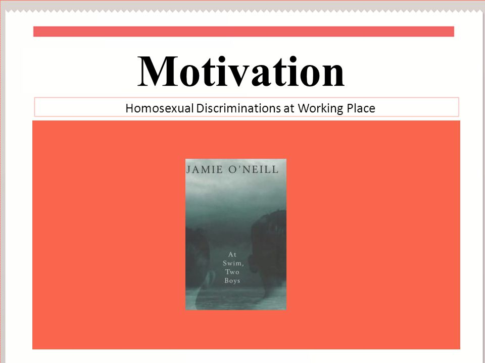 Homosexual Discriminations at Working Place Overview
