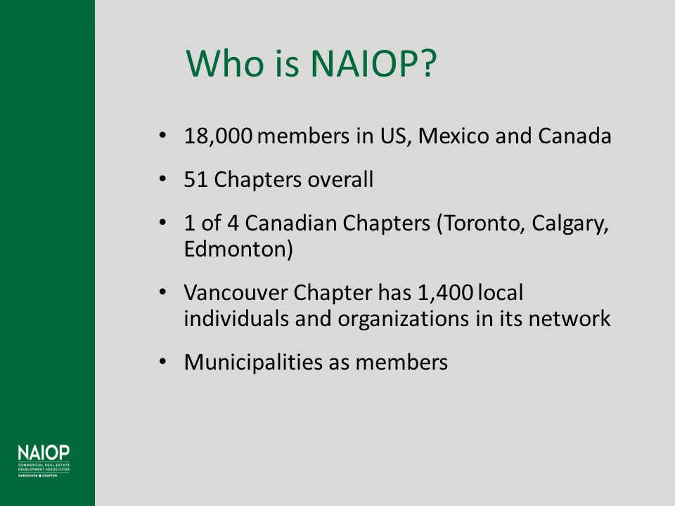Who is NAIOP.