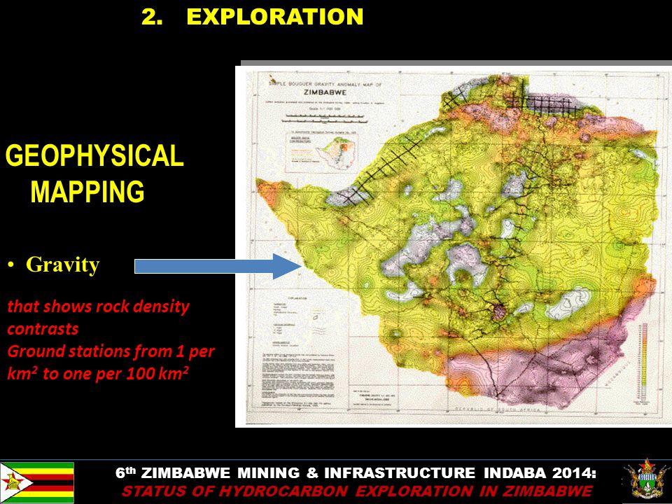 10 2. EXPLORATION 6 th ZIMBABWE MINING & INFRASTRUCTURE INDABA 2014: STATUS OF HYDROCARBON EXPLORATION IN ZIMBABWE GEOPHYSICAL MAPPING Gravity that sh
