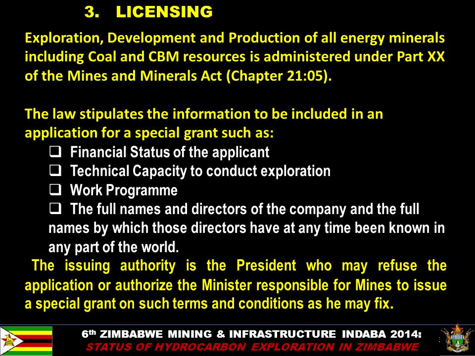 36 Exploration, Development and Production of all energy minerals including Coal and CBM resources is administered under Part XX of the Mines and Mine