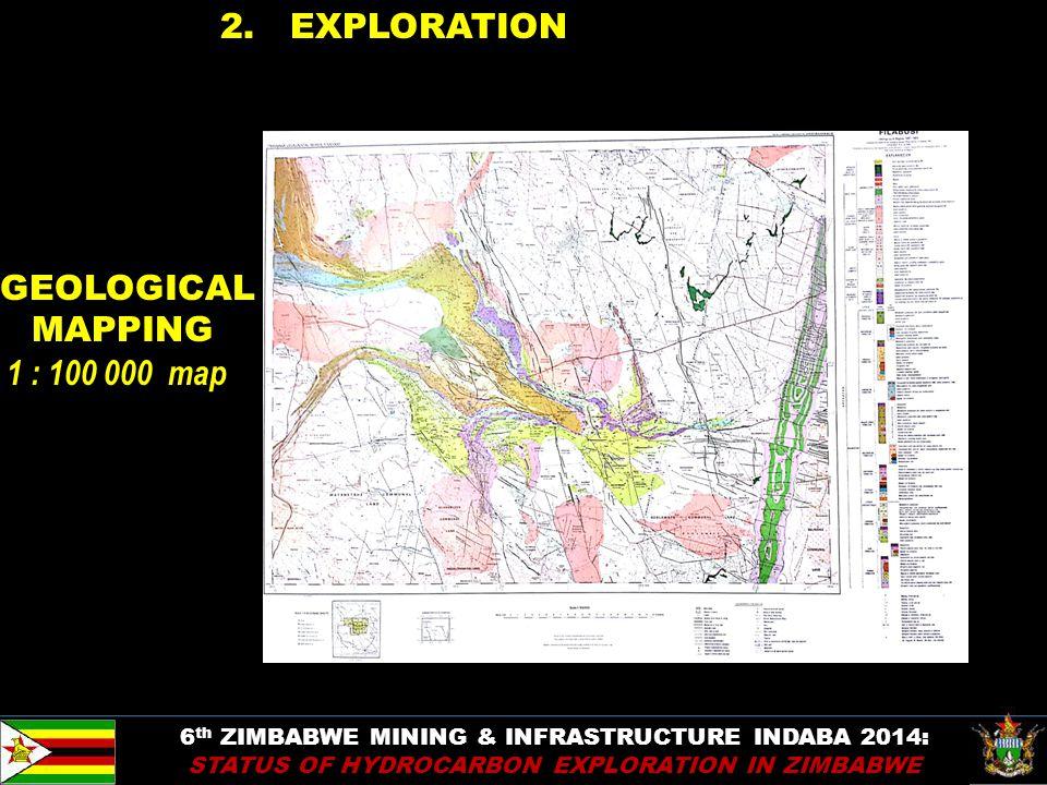 9 2. EXPLORATION 6 th ZIMBABWE MINING & INFRASTRUCTURE INDABA 2014: STATUS OF HYDROCARBON EXPLORATION IN ZIMBABWE GEOLOGICAL MAPPING 1 : 100 000 map