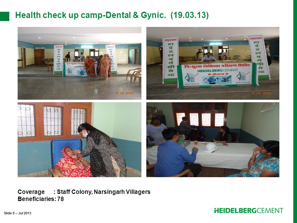 Health check up camp-Dental & Gynic.