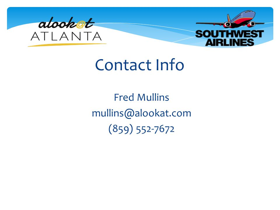 Contact Info Fred Mullins mullins@alookat.com (859) 552-7672