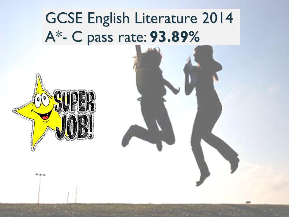 GCSE English Literature 2014 A*- C pass rate: 93.89%