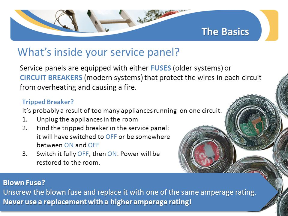 The Basics What's inside your service panel.