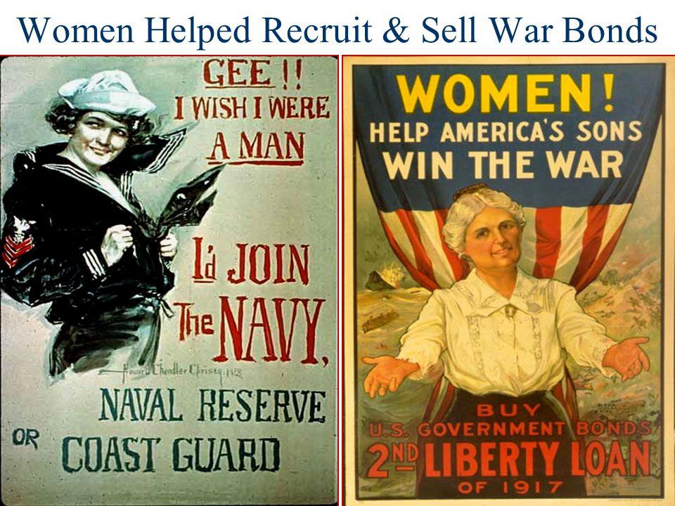 Women Helped Recruit & Sell War Bonds
