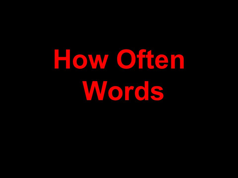 How Often Words