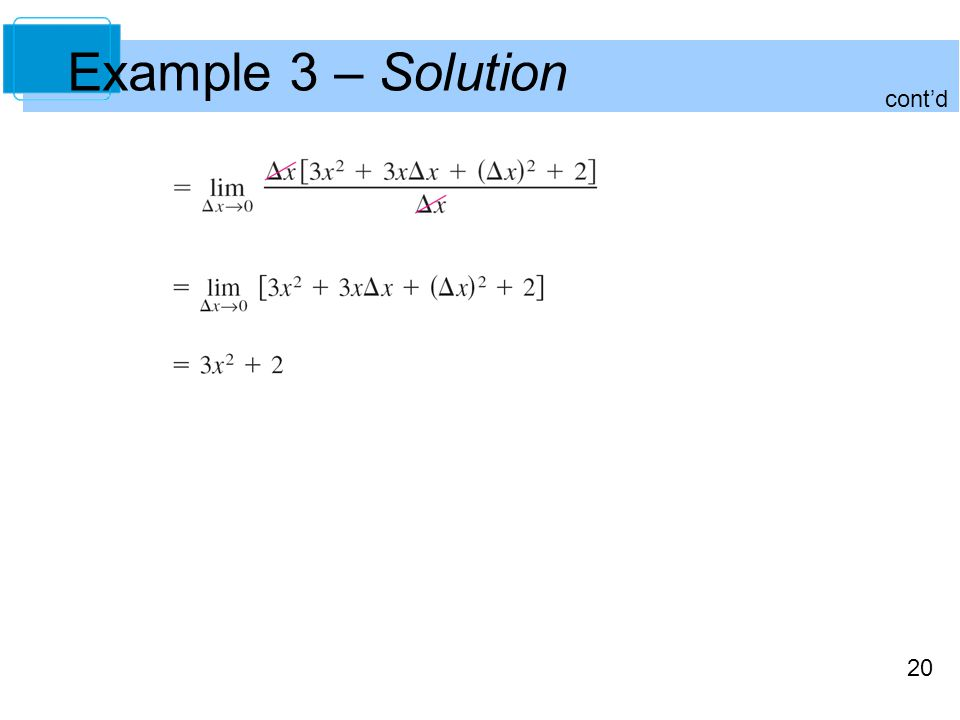 20 Example 3 – Solution cont'd