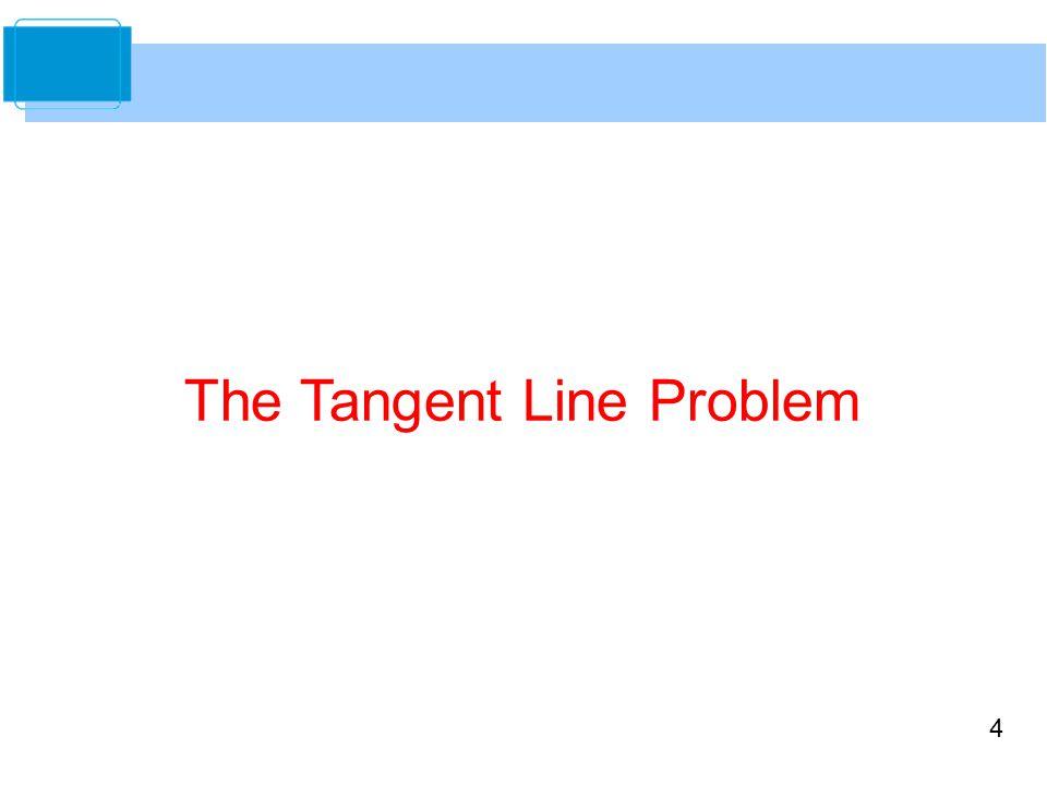 4 The Tangent Line Problem