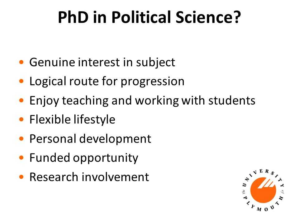 PhD in Political Science.