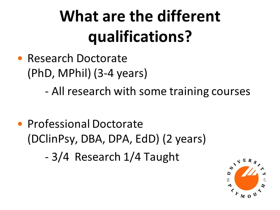 What are the different qualifications.