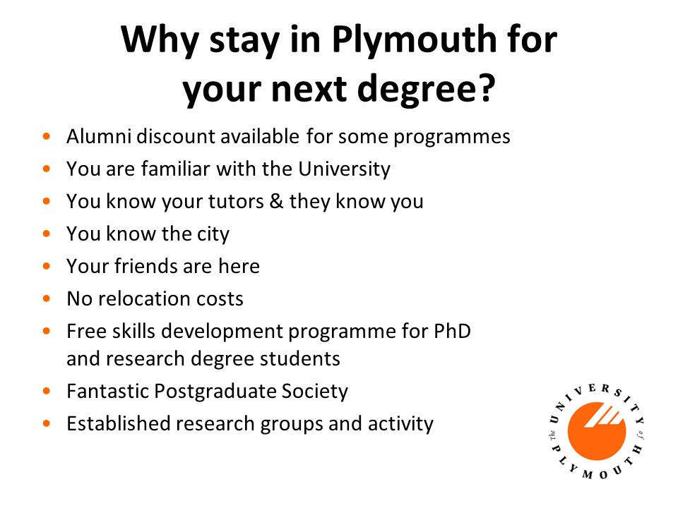 Why stay in Plymouth for your next degree.