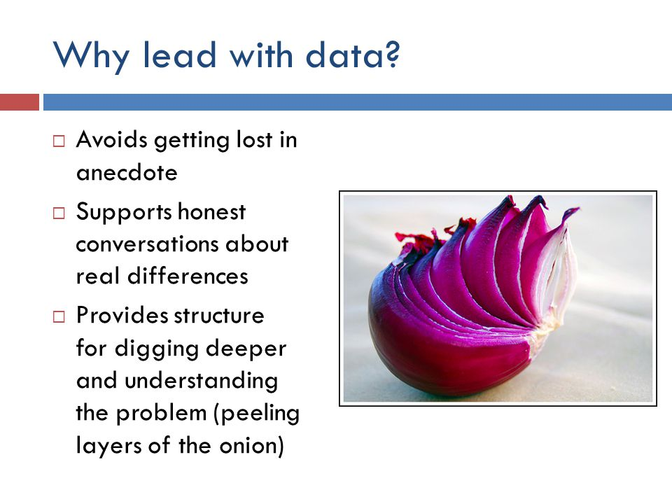 Why lead with data.