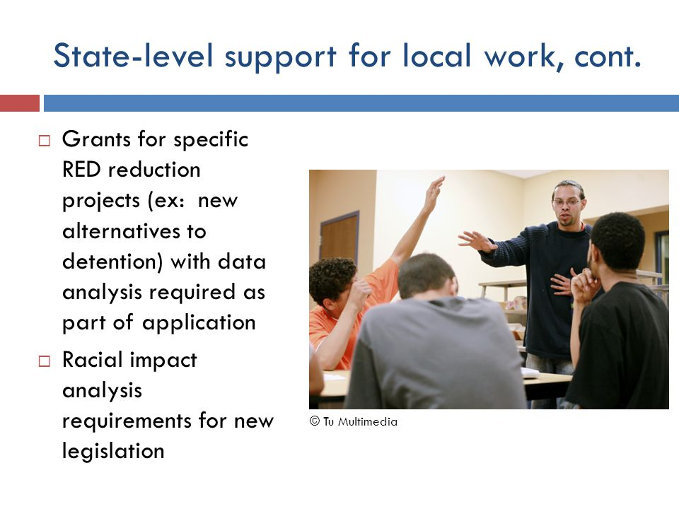 State-level support for local work, cont.