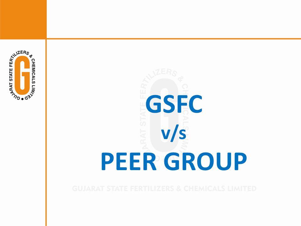 GSFC v/s PEER GROUP