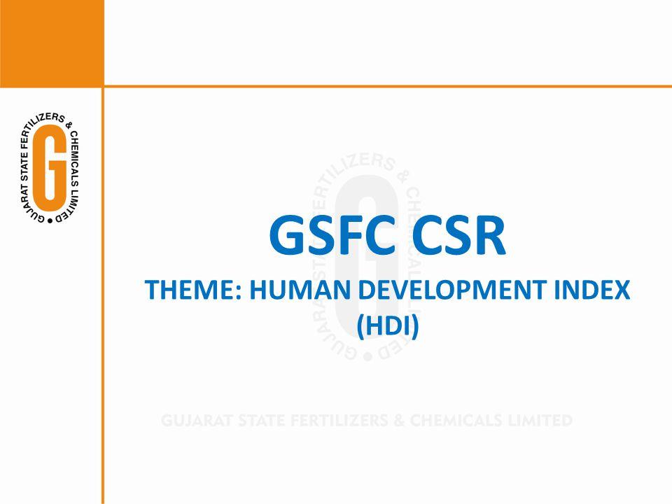 GSFC CSR THEME: HUMAN DEVELOPMENT INDEX (HDI)