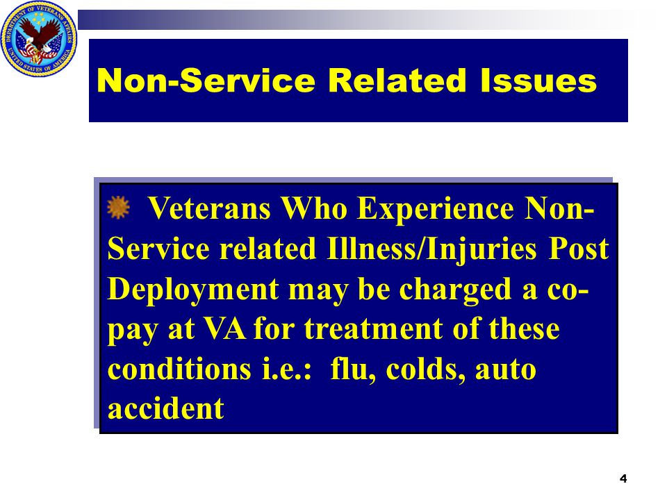 ` Cost free one time treatment of dental conditions for recently separated veterans who served for 90 days or more, apply within 180 days of separation, and DD214 does not indicate necessary dental care was provided within 90 days of release or discharge Dental Care 5