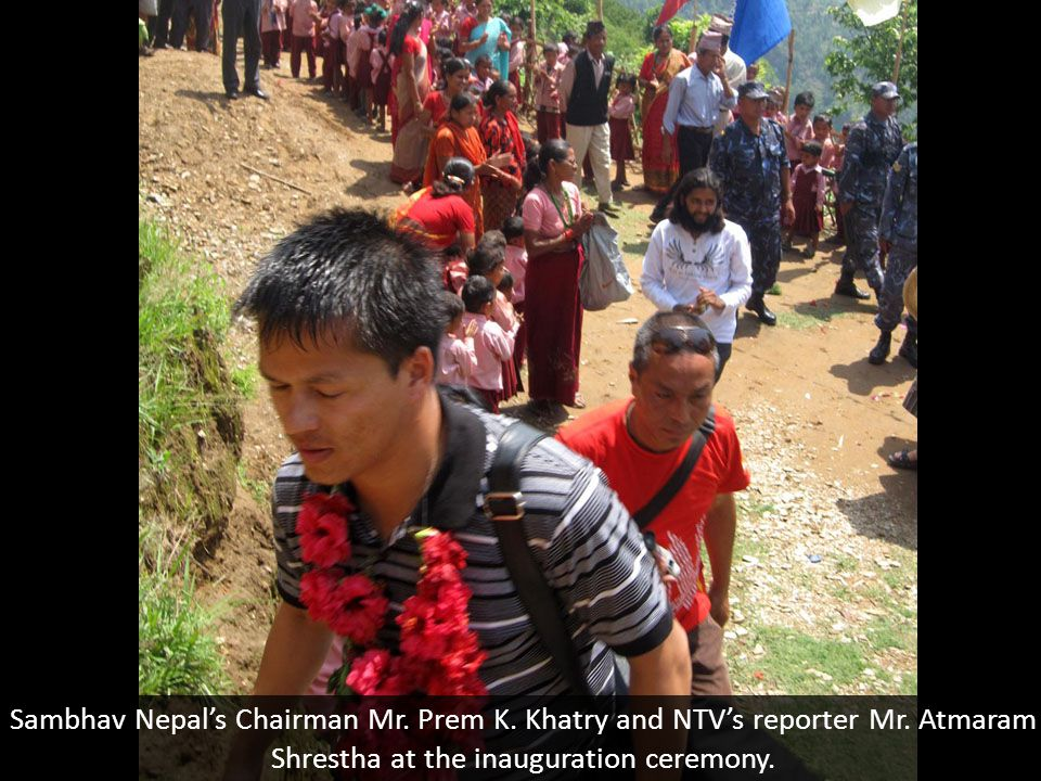 Sambhav Nepal's Chairman Mr. Prem K. Khatry and NTV's reporter Mr.
