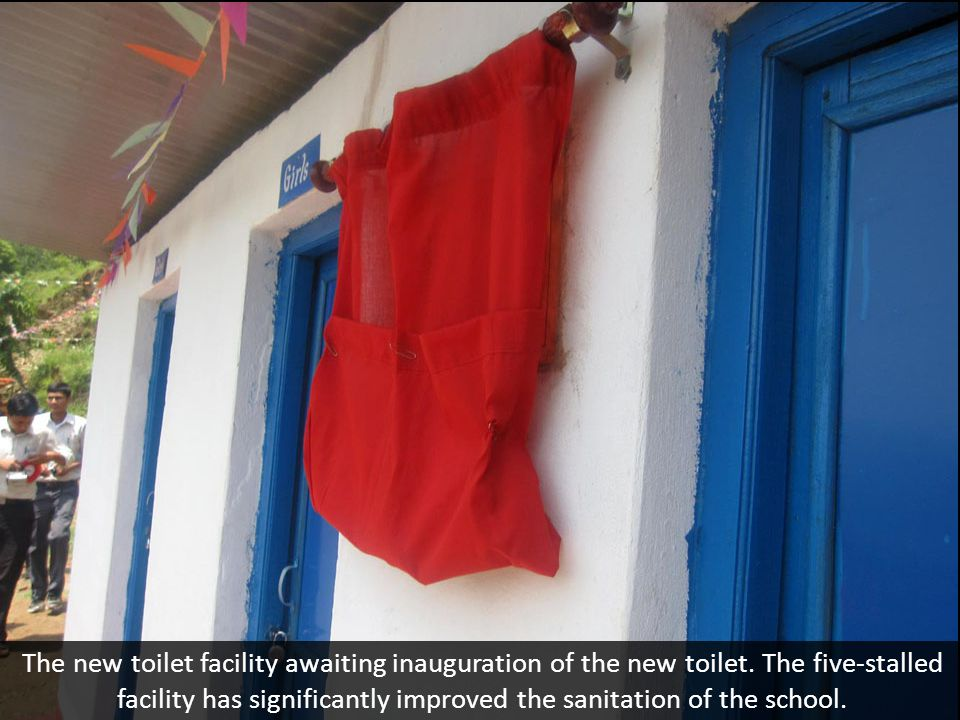 The new toilet facility awaiting inauguration of the new toilet.