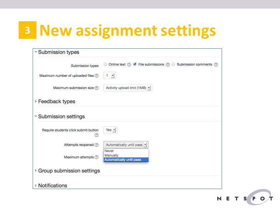 New assignment settings 3