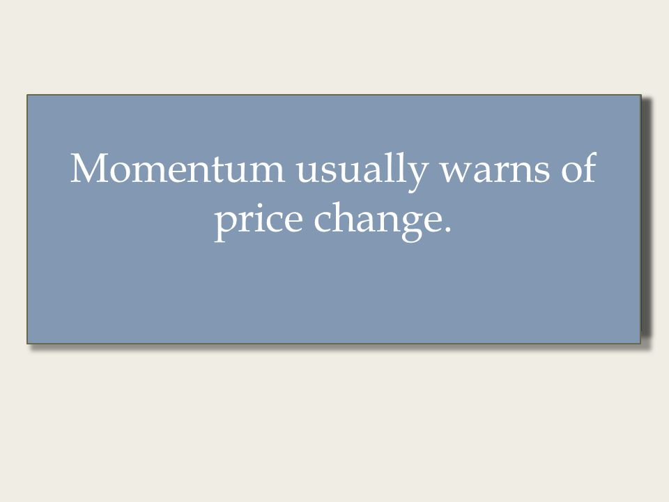 Momentum provides a different vantage point from widely- watched price charts.